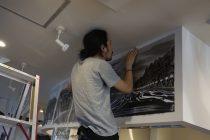 ラリュンヌ 壁画 制作風景